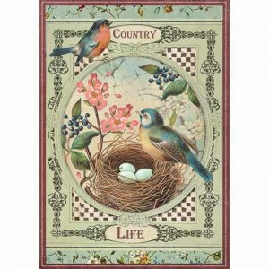 Stamperia Rice Paper -  Country Life Birds