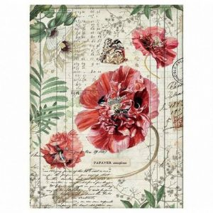 Stamperia Rice Paper - Poppies