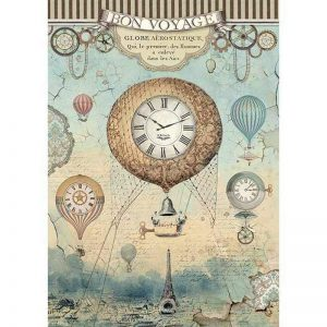 Stamperia Rice Paper - Voyages Fantastiques Balloon