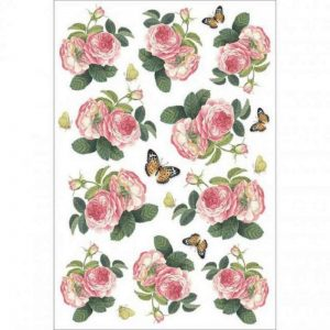Stamperia Rice Paper - Roses And Butterfly