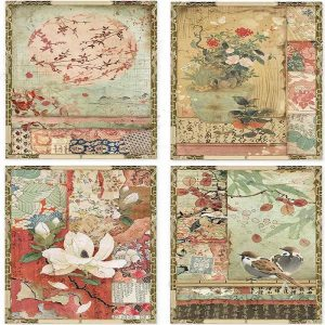 Stamperia Rice Paper - Japanese Postcards
