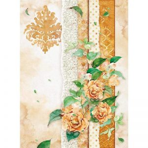 Stamperia Rice Paper - Flowers For You Ocher