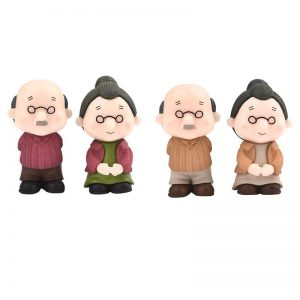 Miniature Cute Grandma And Grandpa Couple
