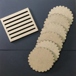 MDF Scallop Edge Round Coasters
