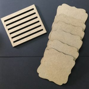 MDF Bracket Square Coasters