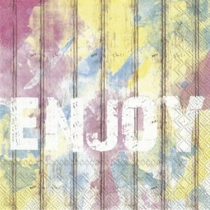 Enjoy Decoupage Napkin