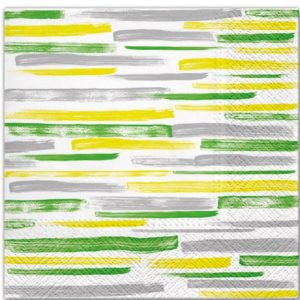 Water Colour Stripes Decoupage Napkin