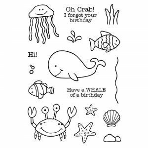 Jane's Doodles Clear Stamps - Under The Sea