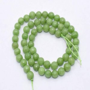 Parrot Green Agate Beads