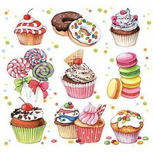 Cup Cakes Decoupage Napkin