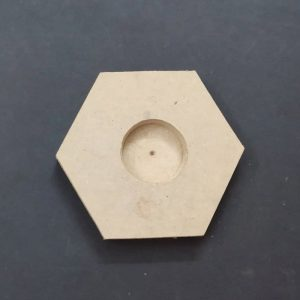 Candle Stand - MDF Hexagon 4.5 x 4 inches