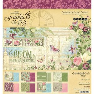 Graphic 45 Double-Sided Paper Pad Bloom