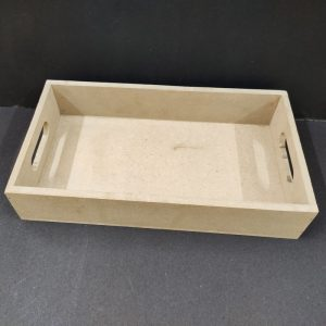 MDF Rectangle Tray 12 x 8 x 2 inches