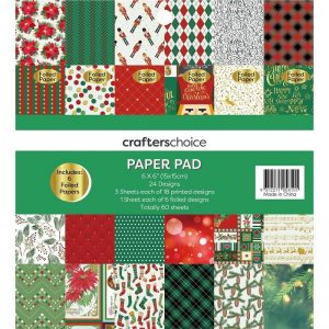 Crafters Choice Paper Pad Festive Christmas Theme