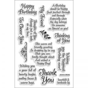 Stampendous Friendly Phrases Image