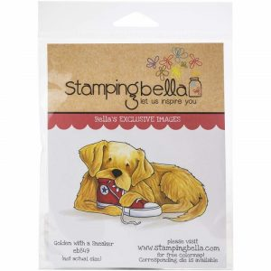 Stamping Bella Rubber Stamp DG Golden With A Sneaker