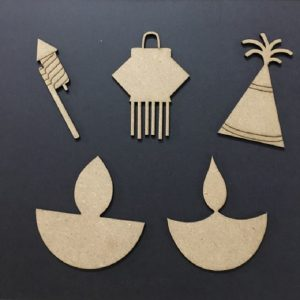 MDF Embellishments - Diwali Theme Set 2