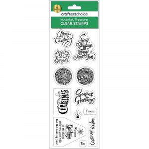 Crafters Choice - Nostalgic Treasures Sentiments Stamp Black
