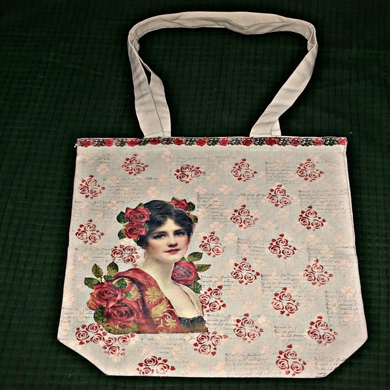 Image Transfer On A Tote Bag by Vidhu Thareja
