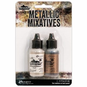 Ranger Alcohol Ink Kit Mixatives - Pearl And Copper