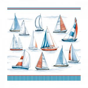 Sailing Boats Decoupage Napkin