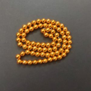 Acrylic Metallic Gold Beads 6 mm