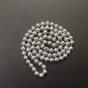 Acrylic Metallic Silver Beads 6 mm