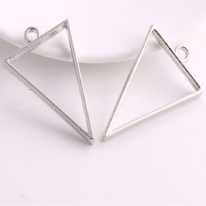 Silver Triangle Pendant Blank Frame