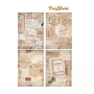 Craftreat Decoupage Paper - French Background
