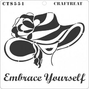 CrafTreat Stencil - Embrace Yourself