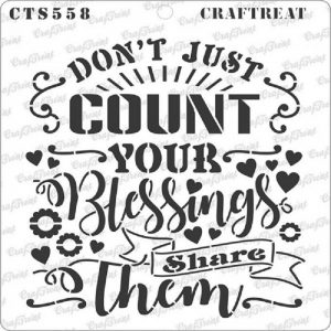 CrafTreat Stencil - Share Blessings