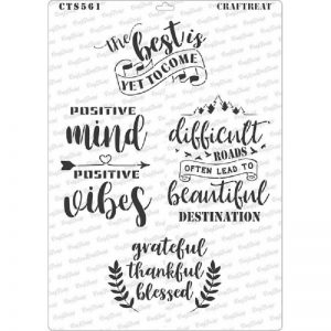 CrafTreat Stencil - Positive Vibes A4