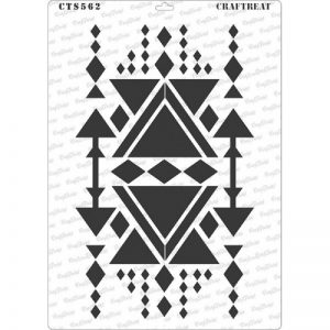 CrafTreat Stencil - Aztec Design1 A4