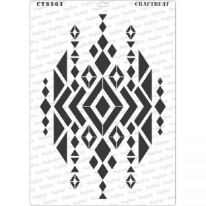 CrafTreat Stencil - Aztec Design2 A4