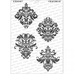 CrafTreat Stencil - Damask Designs A4