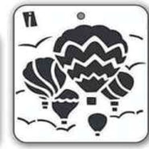 iCraft 4 x 4 Mini Stencil - Hot Air Balloon