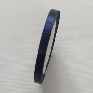 Navy Blue Satin Ribbon 8mm