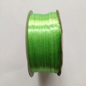 Parrot Green Satin Ribbon  3mm