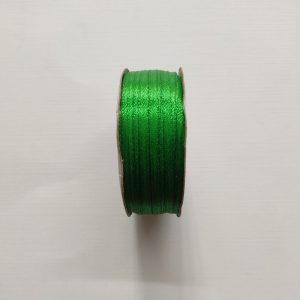Dark Green Satin Ribbon 3mm