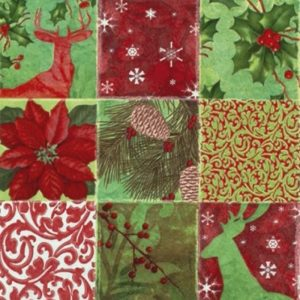 Christmas Theme Collage Decoupage Napkin