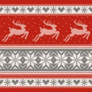 Red Reindeer Decoupage Napkin