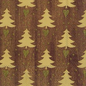 Trees In Brown Background Decoupage Napkin