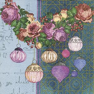Colorful Baubles Decoupage Napkin