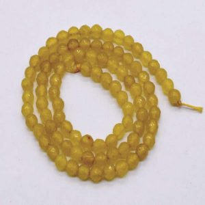 Light Yellow Agate Beads