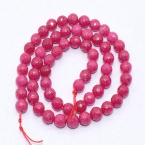 Coral Pink Agate Beads