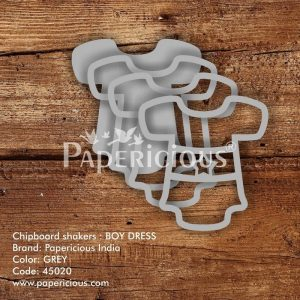 Boy Dress Papericious 3D Shaker Chippis