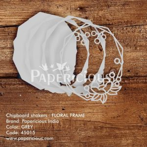 Floral Frame Papericious 3D Shaker Chippis