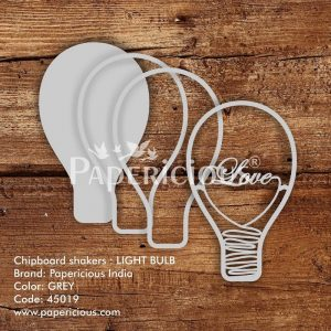 Light Bulb Papericious 3D Shaker Chippis