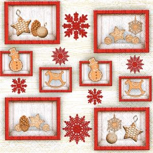 Christmas In Frames Decoupage Napkin