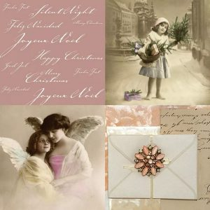 Two Angels With Wings Decoupage Napkin